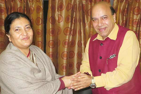 Jolly meets Nepal President & Prime Minister; Concern on Fuel & Gas Crisis in Nepal