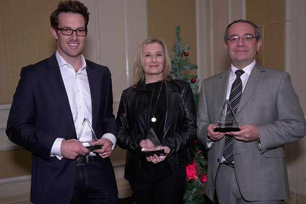 Hospitality 'Finance, Revenue Management and IT Professionals of the Year' named and honoured at Annual HOSPA Christmas Awards 2015