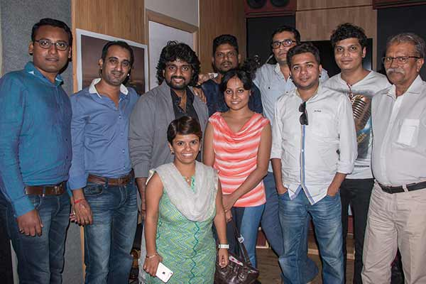 """Muhurt of """"TALIM"""" done with song recording of """"Talim Rangu De…"""" by Adarsh Shinde"""