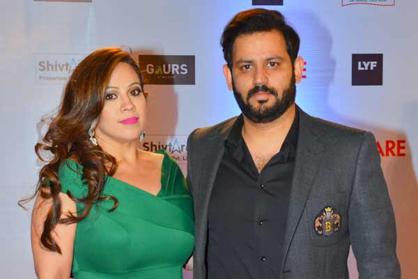 Ajay Kapoor of T-Series along with his wife Ekta Kapoor attended the 61st Britannia Filmfare Awards 2016