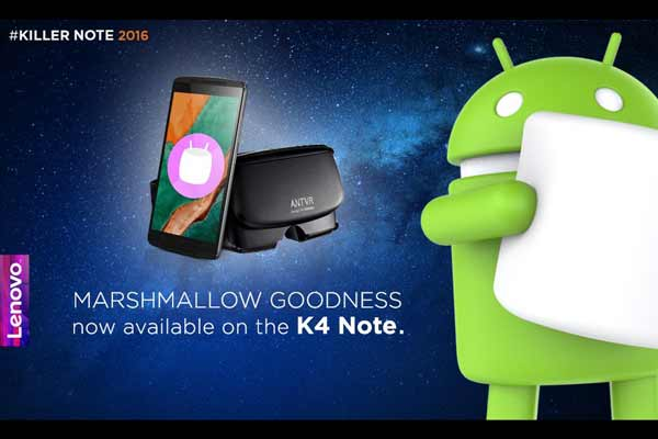 Lenovo rolls out Android Marshmallow 6.0 for the K4 Note