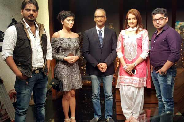 Celebs promote their film Love Ke Funday on Komal Nahta show on ETC channel