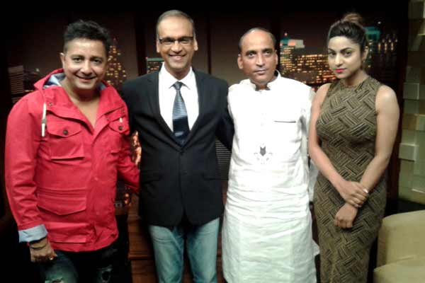 Sukhwinder Singh, Faaiz Anwar and Ritika Gulati went to promote their Hindi film Love Ke Funday on Komal Nahta show Zee ETC Bollywood