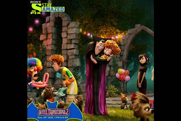 Check-in to Hotel Transylvania 2 with Sony PIX