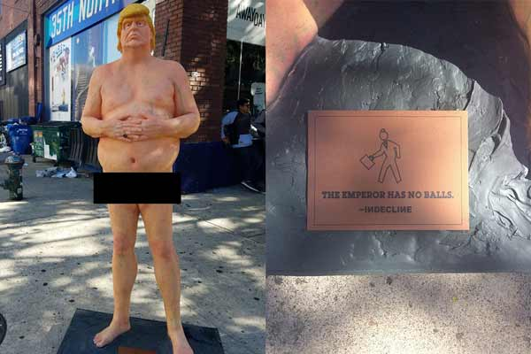 Naked Trump statue up for auction, could fetch $20,000