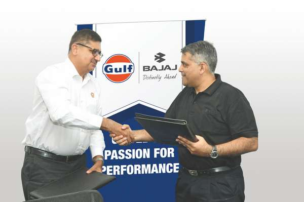 Gulf Oil Lubricants & Bajaj Auto sign strategic tie-up for Lubricants
