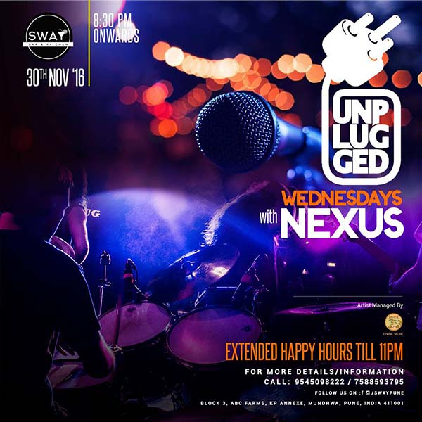 Jazz up with an enlivening Live performance by Nexus - The Band @Sway