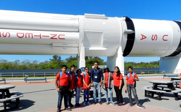 Students from Pune School visit NASA space center on an Educational Trip