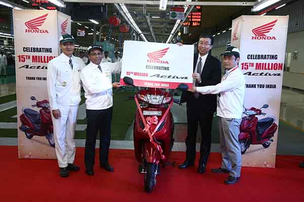 Honda 2Wheelers India rolls out the historic 1,50,00,000th (1.5 crore) Activa