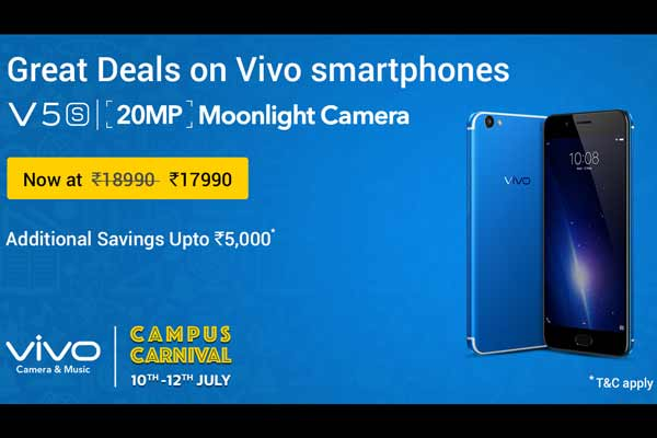 Vivo India Announces First Ever Campus Carnival On Flipkart – Attractive Offers On Vivo V5s, V5Plus And More