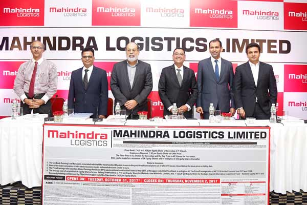 Mahindra Logistics Limited – IPO to open on Oct 31, 2017 & to close on Nov 2, 2017