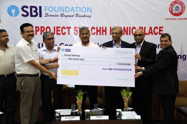 SBI Foundation commits Rs. 10 Cr. for project 'Swachh Iconic CSTM'