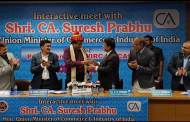 Minister of Commerce and Industry Suresh Prabhu Interacted with Chartered Accountants of Pune