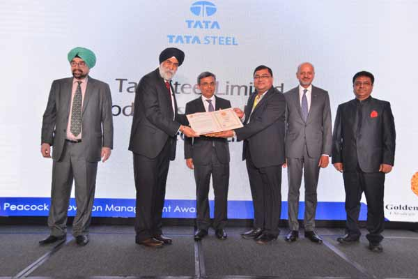 Tata Steel Joda East Iron Mine bestowed with the Golden Peacock Innovation Management Award 2017