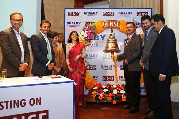 Shalby Limited listing ceremony