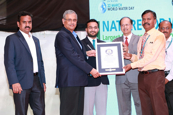 L&T Construction's Water & Effluent Treatment Business enters the GUINNESS WORLD RECORDS® books for conducting the 'Largest Environmental Sustainability Lesson' involving 2,289 students