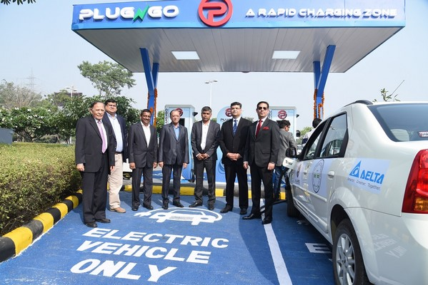 Electric Vehicles Start-up EV Motors India joins hands with DLF, Delta Electronics India and ABB India to launch its First Public EV Charging Outlet 'PlugNgo'