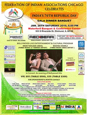 Gala Dinner Banquet With A Cultural Program To Celebrate India's 70th Republic Day