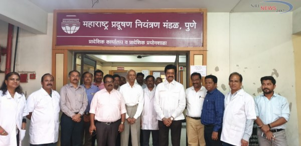 MP Anil Shirole visits MPCB office