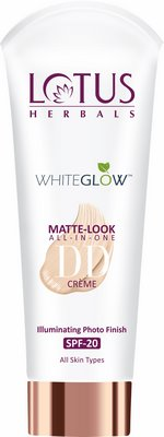 Lotus Herbals Introduces WhiteGlow Matte Look All In One DD Crème SPF 20