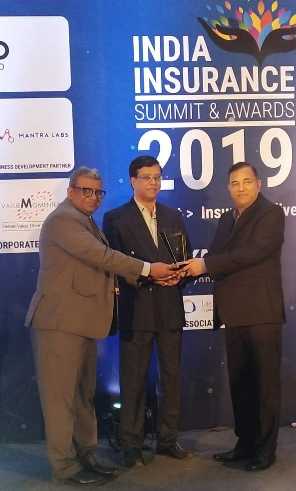 Shriram General Insurance MD & CEO, Mr. Anil Kumar Aggarwal conferred with CEO of the year Award at INDIA INSURANCE SUMMIT & AWARDS 2019