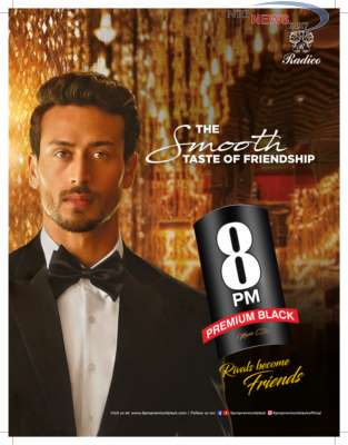 """Tiger Shroff is the new face of 8 PM Premium Black (Music CDs) for its """"smooth taste of friendship"""" campaign"""