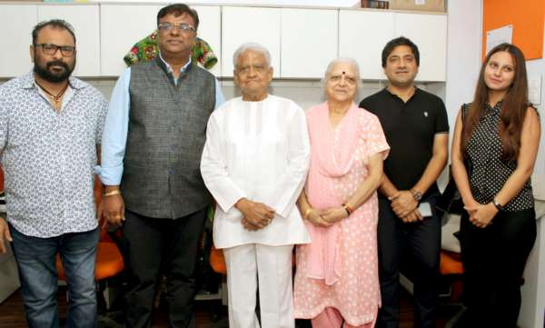 Pyarelal Ji spotted at the birthday celebrations of Chirag Shah at GoCeleb office