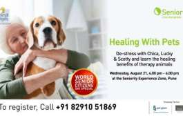"Seniority to Host ""Healing with Pets"" on World Senior Citizen Day"