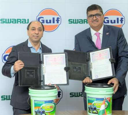 Gulf Oil extends its strategic partnership with Mahindra Group's Swaraj Tractors till 2022