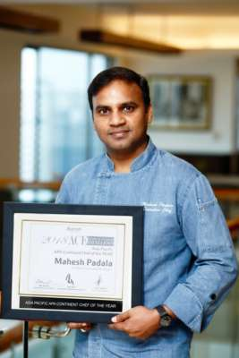 Chef Mahesh Padala from The Westin Hyderabad Mindspace, wins Marriott International's most coveted Award of Culinary Excellence