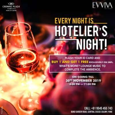 Hoteliers Assemble! for a fun Hoteliers night @ Crowne Plaza Pune City Centre