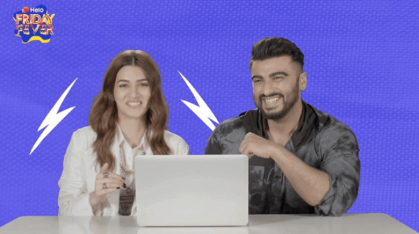 """Arjun Kapoor and Kriti Sanon on 'Panipat' promotion spree - """"The horse took maximum retakes"""" laughed off the duo on Helo's FridayFever"""