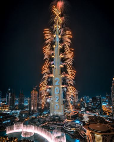 Burj Khalifa Captivates the Globe with Spectacular New Year's Eve Show in Downtown Dubai