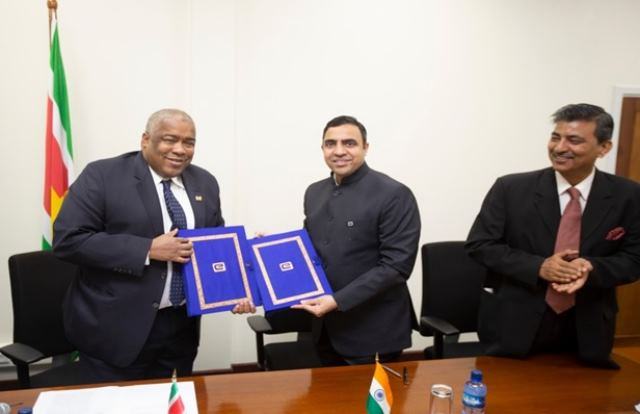 EXIM BANK, ON BEHALF OF THE GOVERNMENT OF INDIA, EXTENDS A LINE OF CREDIT [LOC] OF USD 35.80 MILLION TO THE GOVERNMENT OF REPUBLIC OF SURINAME