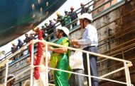 LAUNCHING OF 1200 PAX PASSENGER CUM 1000T CARGO VESSELS FOR A&N ADMINISTRATION BY COCHIN SHIPYARD LIMITED