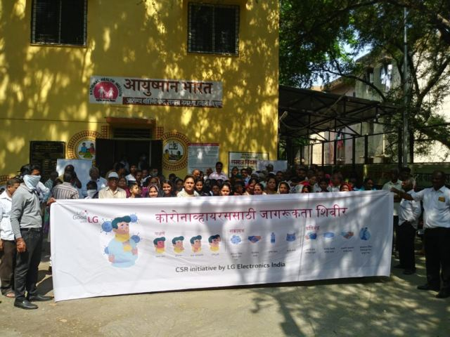 LG HELPS TO FIGHT THE CORONAVIRUS BY HOLDING WORKSHOP AND DISTRIBUTING FACE MASKS AND SANITIZERS IN PUNE SLUM's