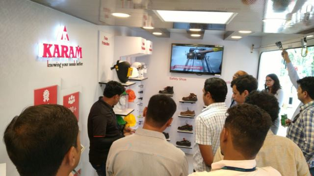 KARAM Mobile Studios installed in Pune to commemorate National Safety Week 2020