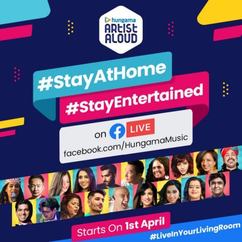Hungama Artist Aloud launches #StayAtHome #StayEntertained on Facebook