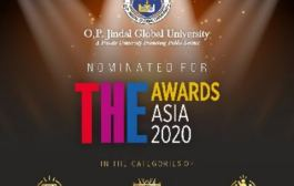 JGU is the only Indian University Nominated Twice For The Higher Education Asia Awards 2020
