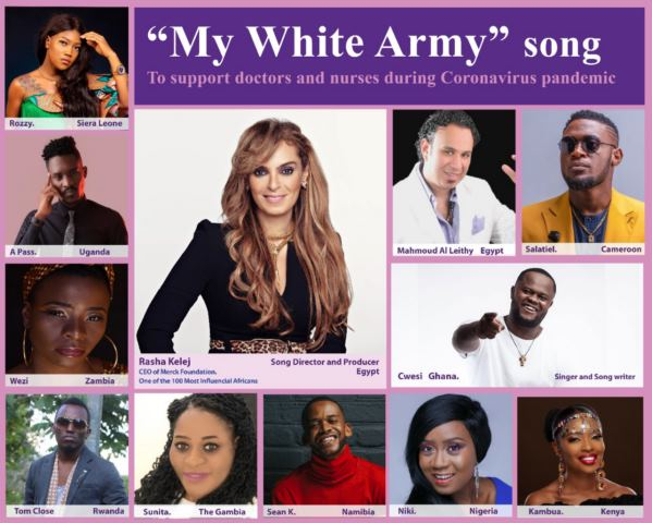 Rasha Kelej creates a song by singers from 11 African countries to support medical workers during Coronavirus battle