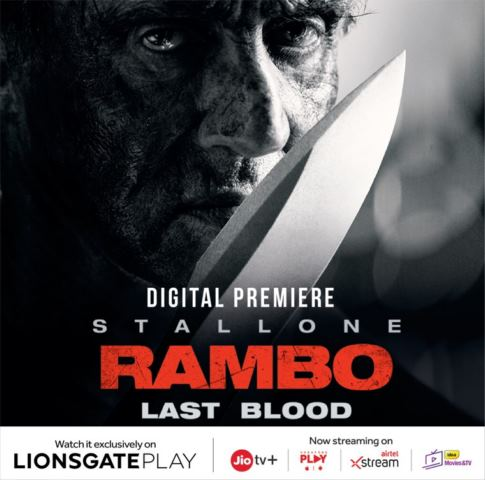 Lionsgate Play to host the digital premiere of Rambo: Last Blood