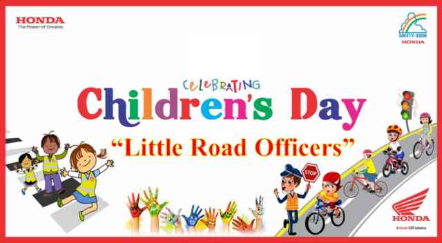 This Children's Day, 6100+ kids pledge to be 'Little Road Officers' with Honda