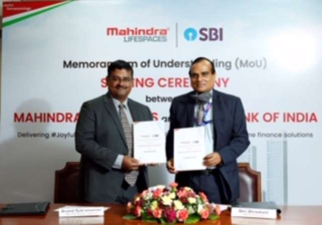 Mahindra Lifespaces® and State Bank of India sign MoU Partnership to deliver enhanced value to customers and employees of both companies
