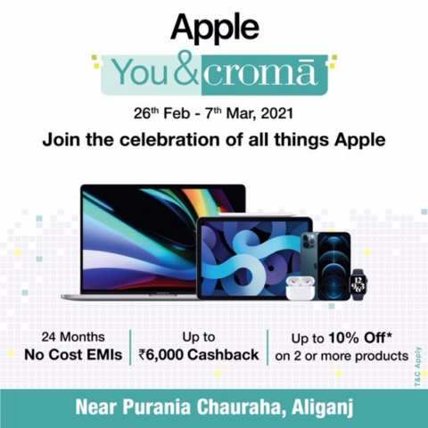 Experience Apple like never before @ Croma with #AppleYou&Croma