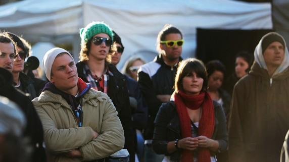 Publikum under Jaa9 og OnklP (Foto: Tom Øverlie, NRK P3)