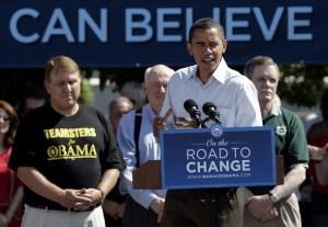 Obama & Teamsters, AFL-CIO, & UAW Bosses   USA-POLITICS/OBAMA