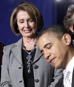 Barack Obama, Nancy Pelosi