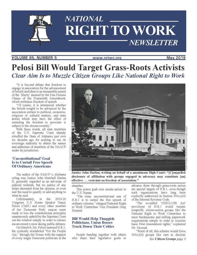 May 2019 National Right to Work Newsletter