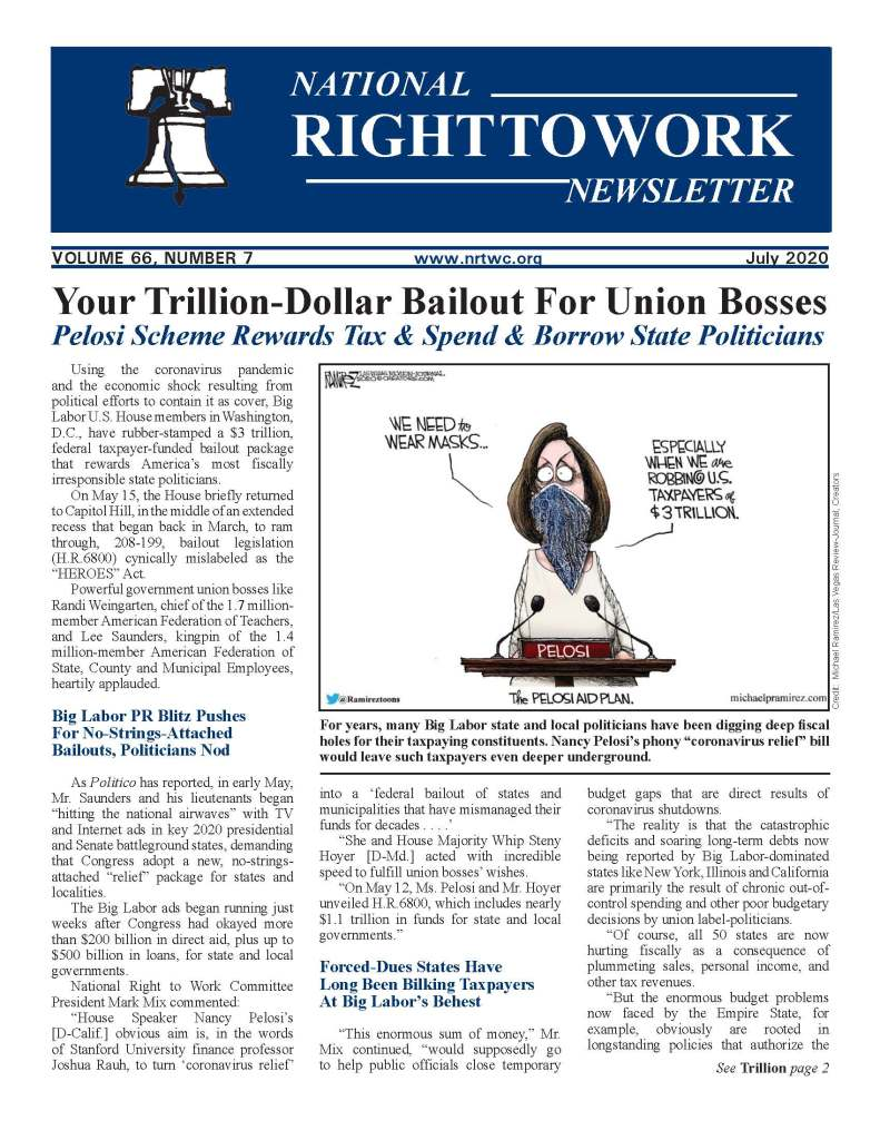 July 2020 National Right to Work Newsletter