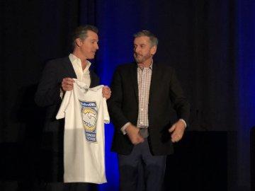 Gavin Newsom and Eric Heins